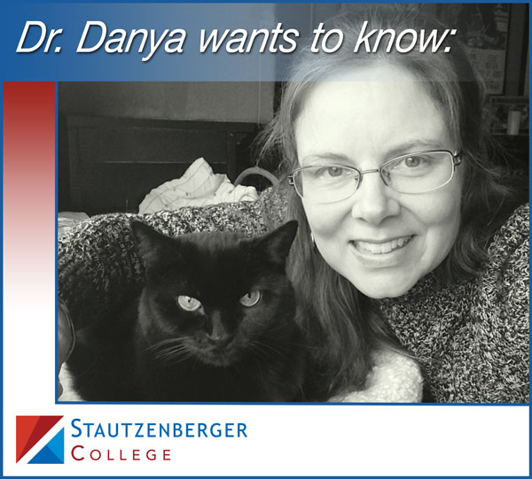 Dr. Danya and her cat